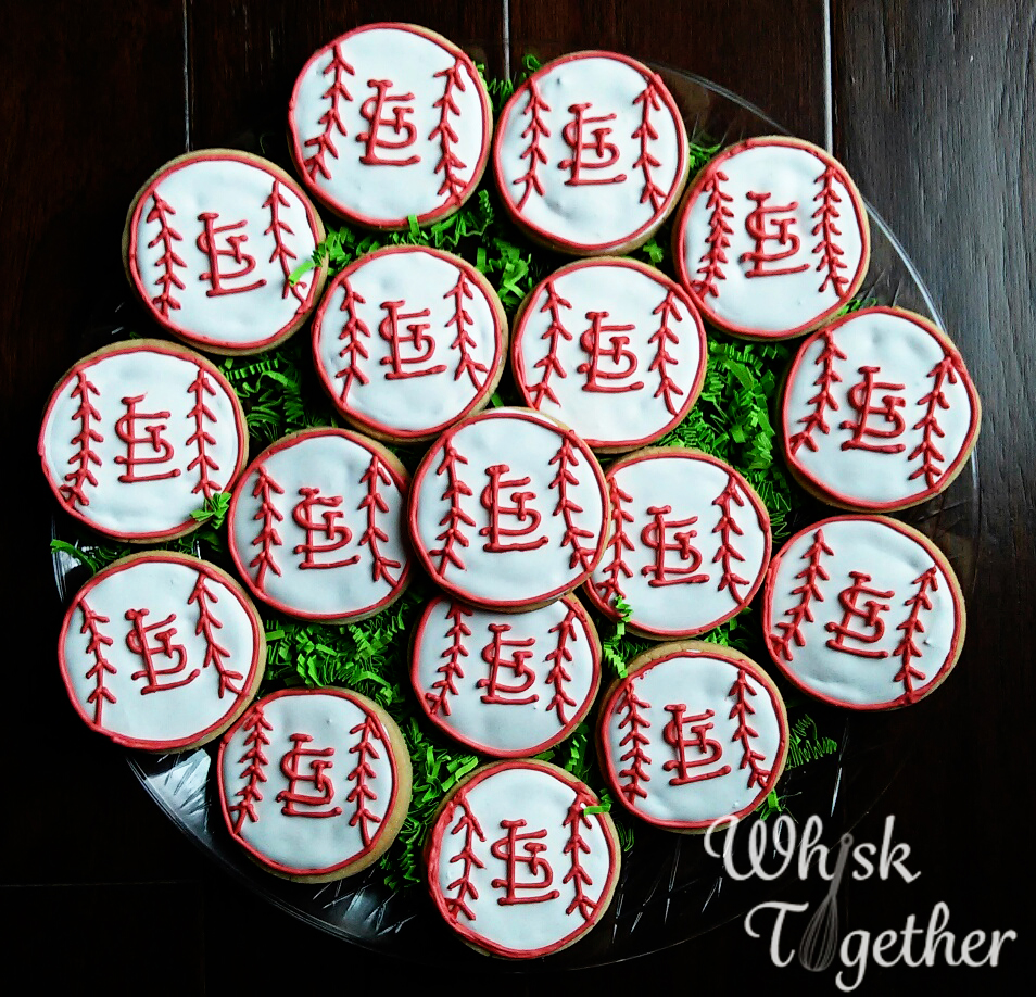 St Louis Cardinals Cookies on Whisk Together