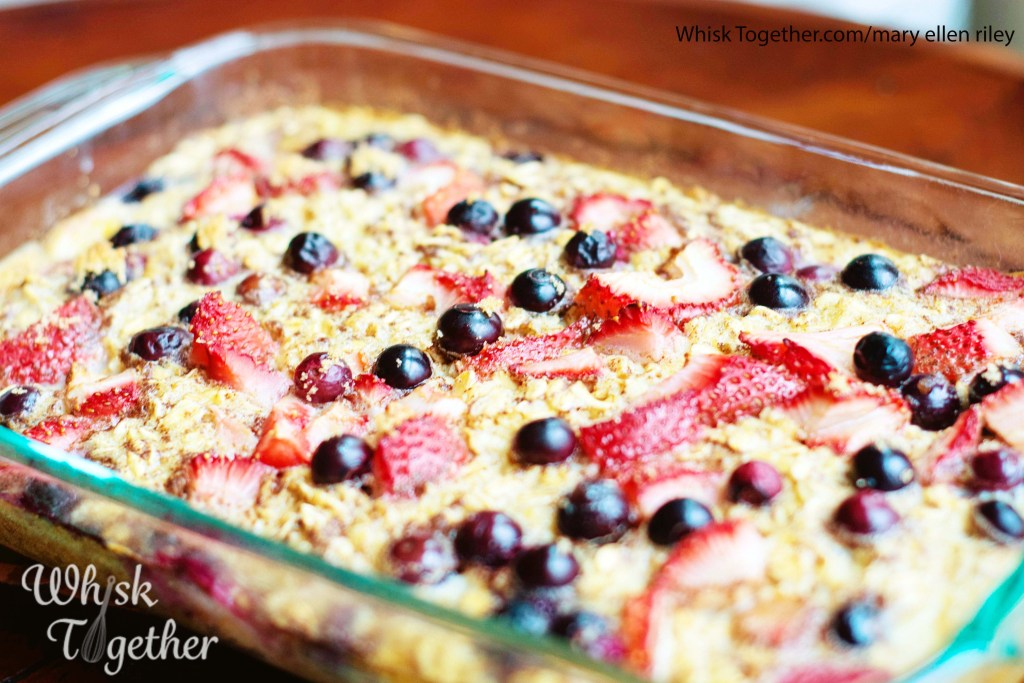 Berry Baked Oatmeal-1929 on Whisk Together