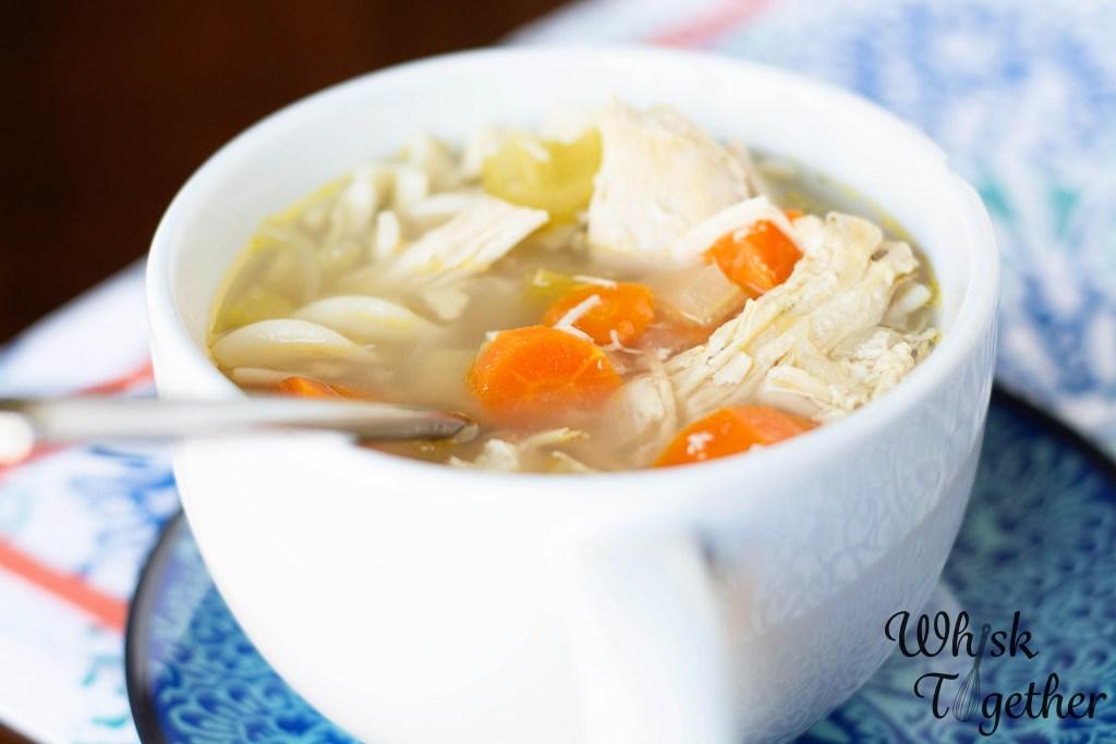 Slow Cooker Chicken Noodle Soup-2354 on Whisk Together