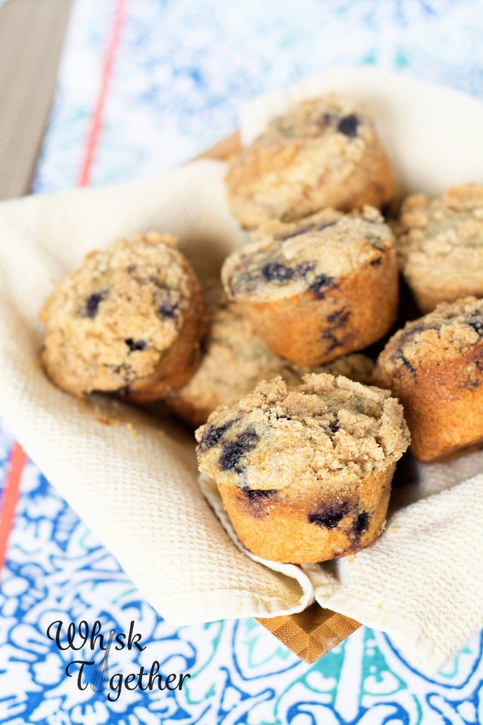 Whole Wheat Blueberry Crumb Muffins-2268 on Whisk Together