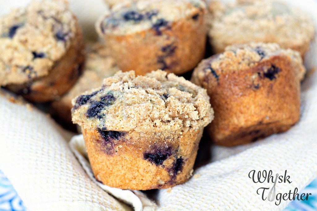 Whole Wheat Blueberry Crumb Muffins-2272 on Whisk Together