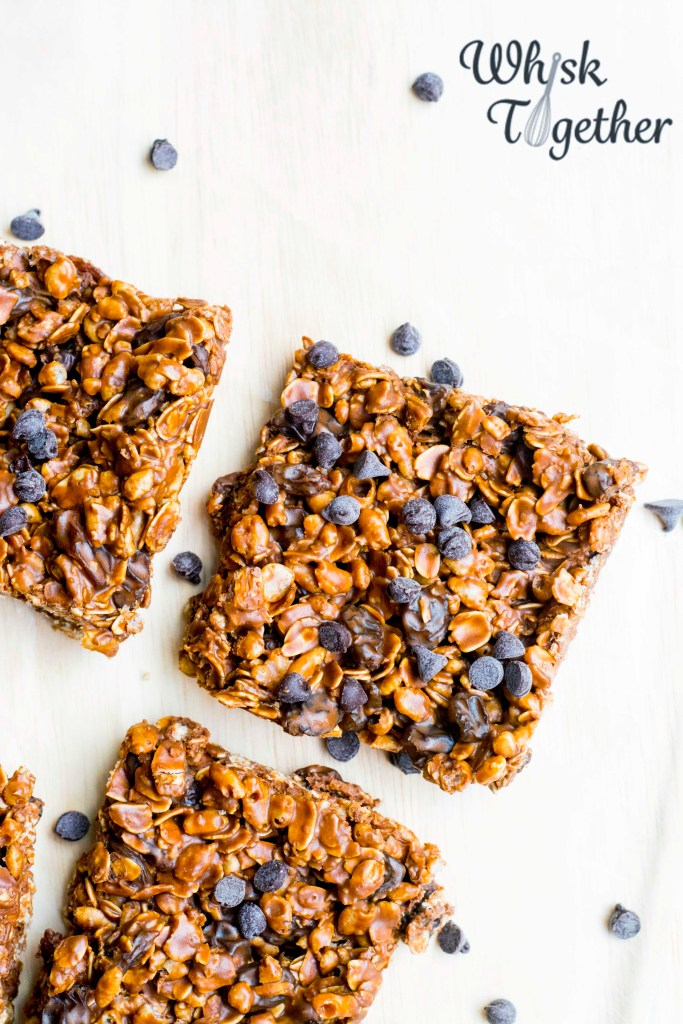 Chocolate Fudge Granola Bars on Whisk Together