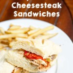 Slow Cooker Chicken Philly Cheesesteak  Sandwiches