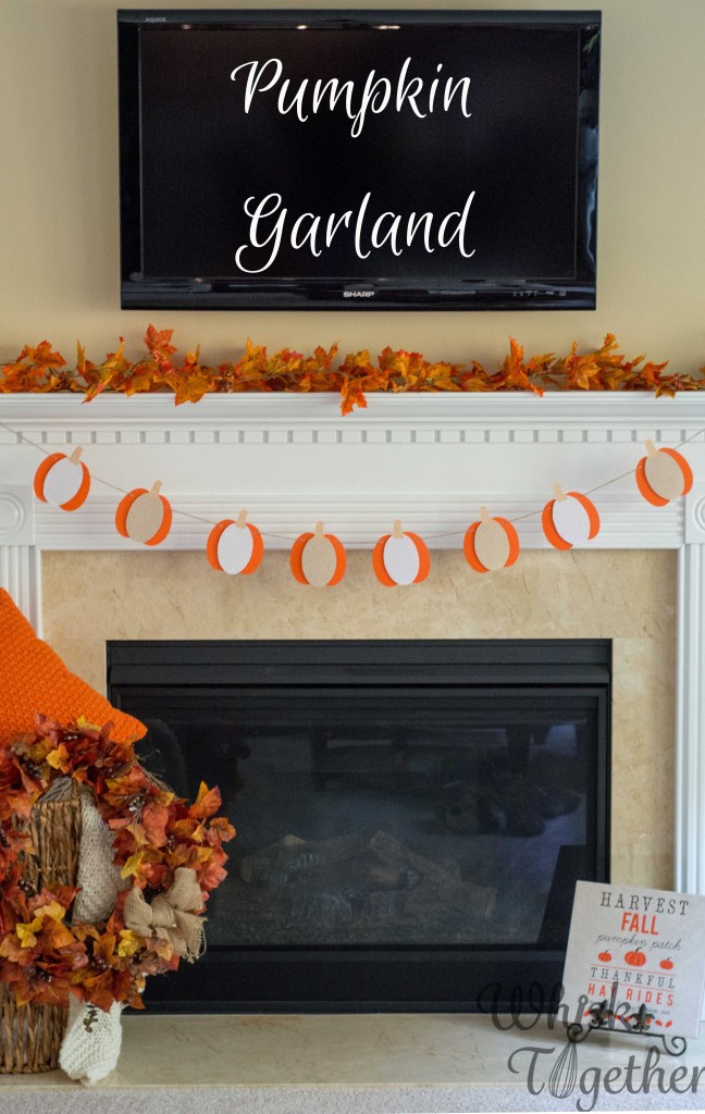 Pumpkin Garland Craft on Whisk Together2-5442-2