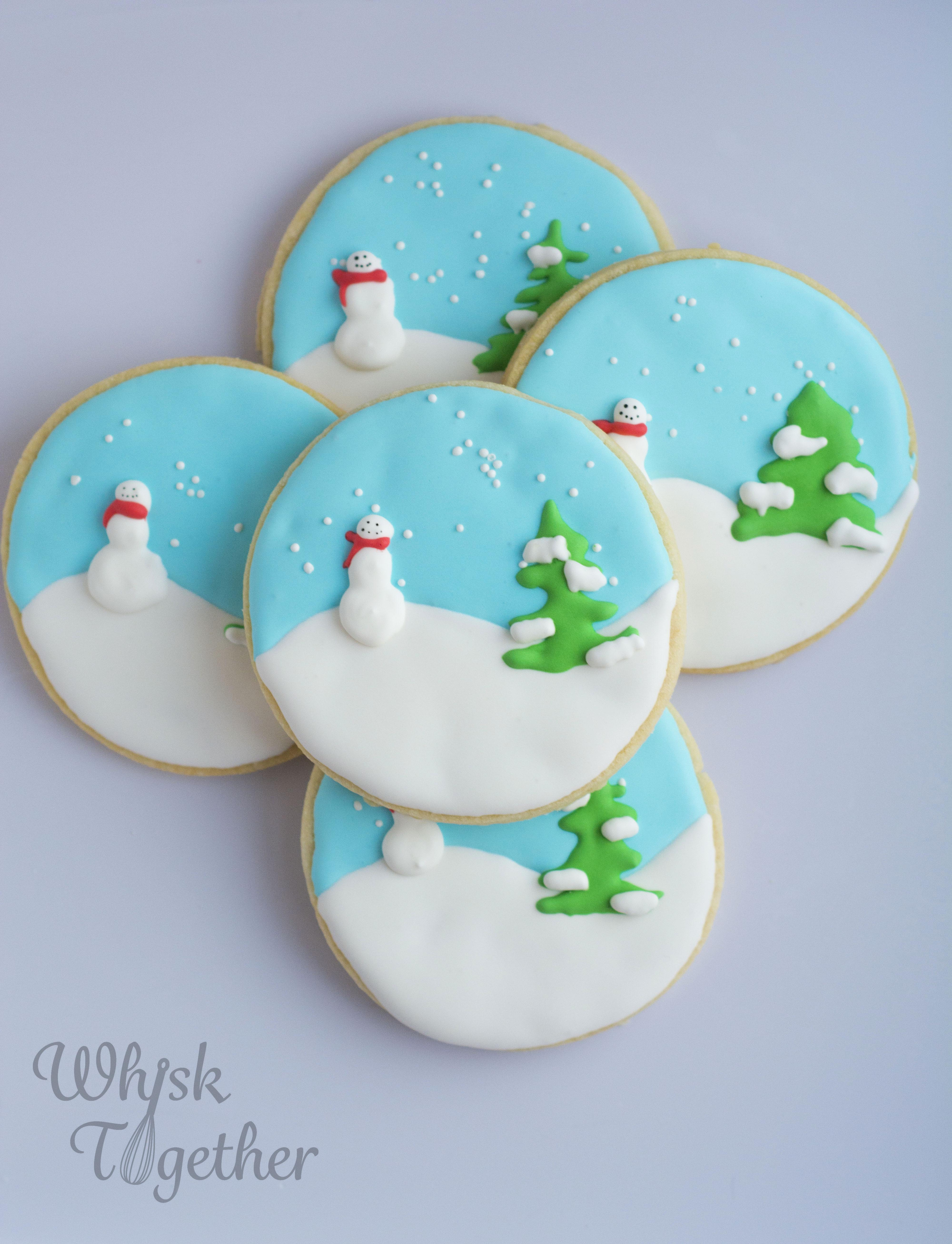 Snowglobe And Gingerbread Christmas Cookies