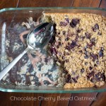 Chocolate Cherry Baked Oatmeal
