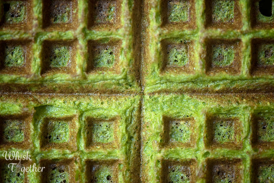 Power Spinach Waffles 3