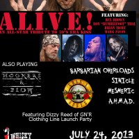 PREVIEW: BARBARIAN OVERLORDS AND A.L.I.V.E. 70s KISS TRIBUTE (with BUMBLEFOOT, TICHY, REX BROWN AND MARK ZAVON) WHISKY A GO-GO 7/24/2013