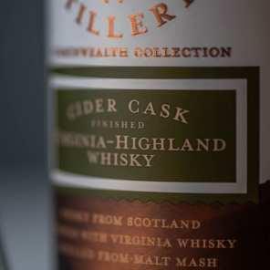Virginia Distillery Co. Cider Cask | Vegan Ginger Apple Cider - Whisky And Donuts - WhiskyAndDonuts.com