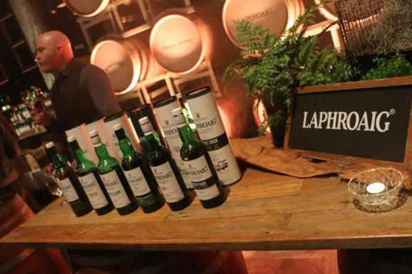 The Laphroaig stand