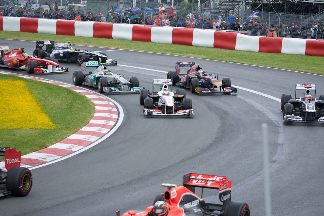 formula 1 in Summer in Montreal