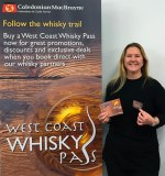 UK Tourism Development Manager Maggie Maguire is delighted with the growing popularity of CalMac's Whisky Pass.