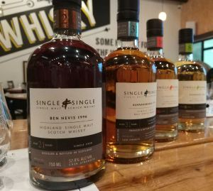 Four Single & Single whiskies