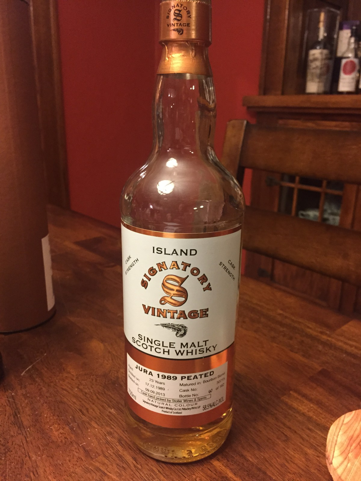 Jura 23 1989 Peated (Signatory Vintage cask 30715) Review