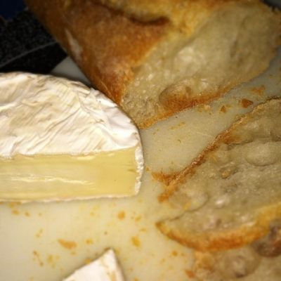 Bread, cheese, and wine for dinner? Yes, please!