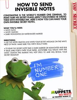 #MuppetsMostWanted Activity Sheets