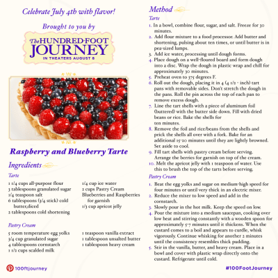 Raspberry and Blueberry Torte Recipe from THE HUNDRED-FOOT JOURNEY ‪#‎100FootJourneyEvent