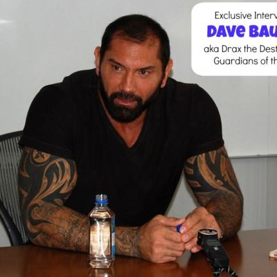 """From WWE to """"Drax the Destroyer"""" Exclusive Interview with Dave Bautista #GuardiansoftheGalaxyEvent"""