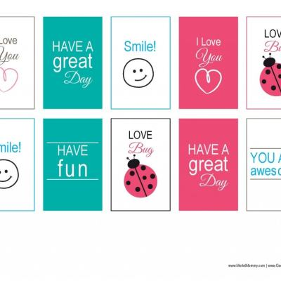 Free Printables: Lunchbox Notes for Back to School