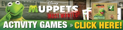 Muppets Most Wanted Activity Sheets Available