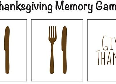 Thanksgiving Memory Game Free #Printable