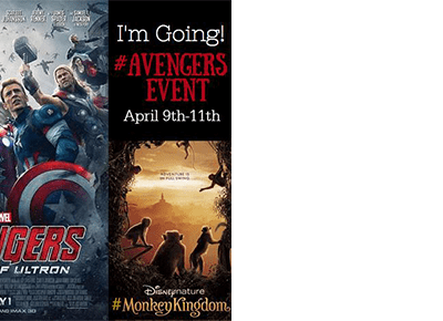 I'm headed to LA for the Avengers: Age of Ultron Movie and Monkey Kingdom #AvengersEvent #MonkeyKingdom #AgentsofSHIELD