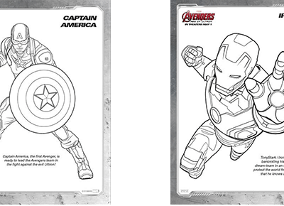 Avengers: Age of Ultron Coloring Sheets