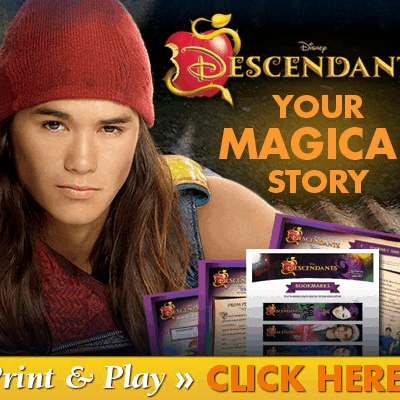 Disney Descendants on DVD Plus Activity Sheets