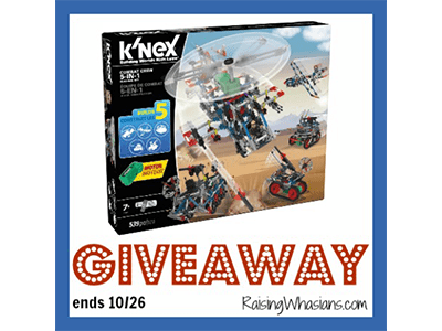 Enter to Win a K'NEX Combat Crew Building Set #Giveaway ends 10/26