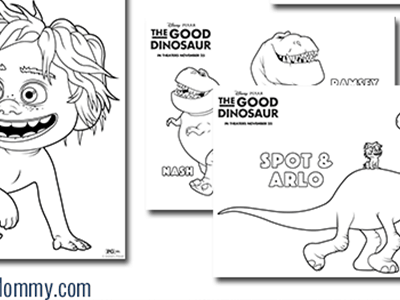 Disney/Pixar's THE GOOD DINOSAUR Activity Sheets #GoodDino
