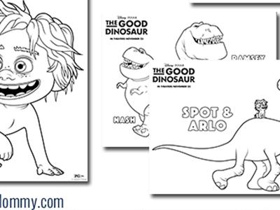 Disney/Pixar's THE GOOD DINOSAUR Activity Sheets #GoodDino