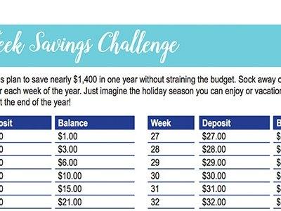 52-Week Savings Challenge: 30 Days of Free Printables