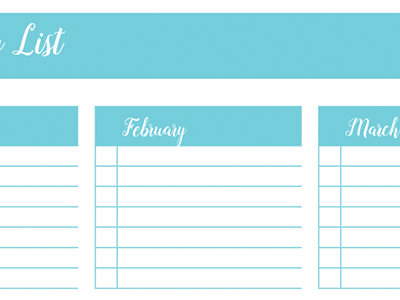 Birthday List: 30 Days of Free Printables