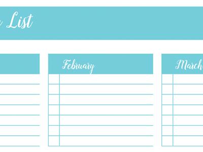 Birthday List: 30 Days of Free Printables