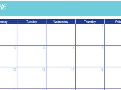 December 2016 Calendar: 30 Days of Free Printables