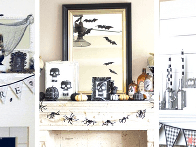 20 Best Halloween Decor Ideas for Your Mantel