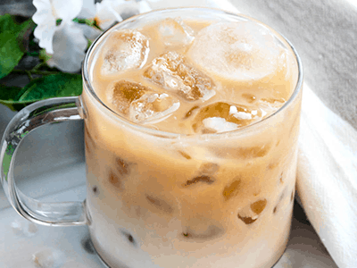 Iced Bourbon and Chocolate Coffee