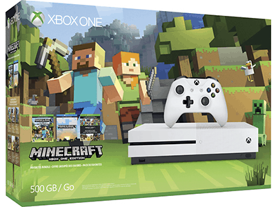 Minecraft XBox One S Console Bundle