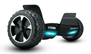 The HOVERFLY XL off-road hoverboard is among the most powerful on the market, producing top-ranking torque thanks to dual 350-watt electric motors (compared to typical competitors' 250-300 watts).