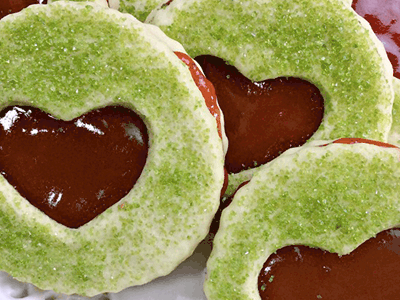 Grinch Sandwich Cookies