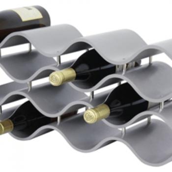 BALI 12-BOTTLE WINE RACK, GRAY