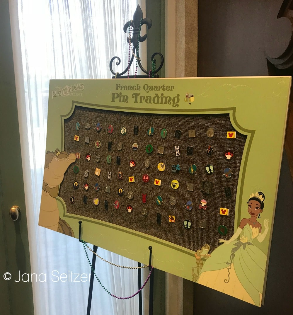 Port Orleans French Quarter Pin trading board - Beginner's Guide To Pin Trading at Disney World: Disney Pin Trading 101