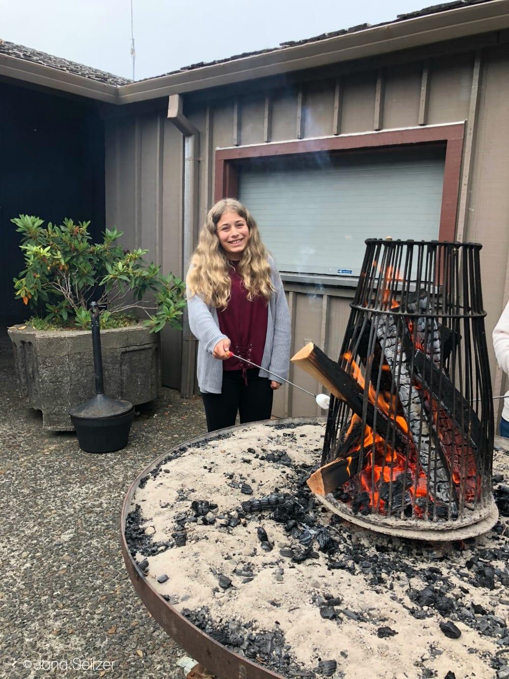Summer at Salishan Resort on the Oregon Coast - make your own smores
