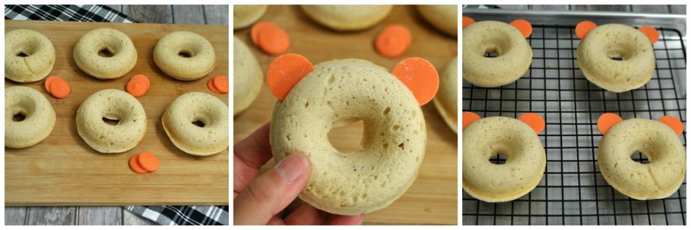 Mickey Pumpkin Donuts in process 1