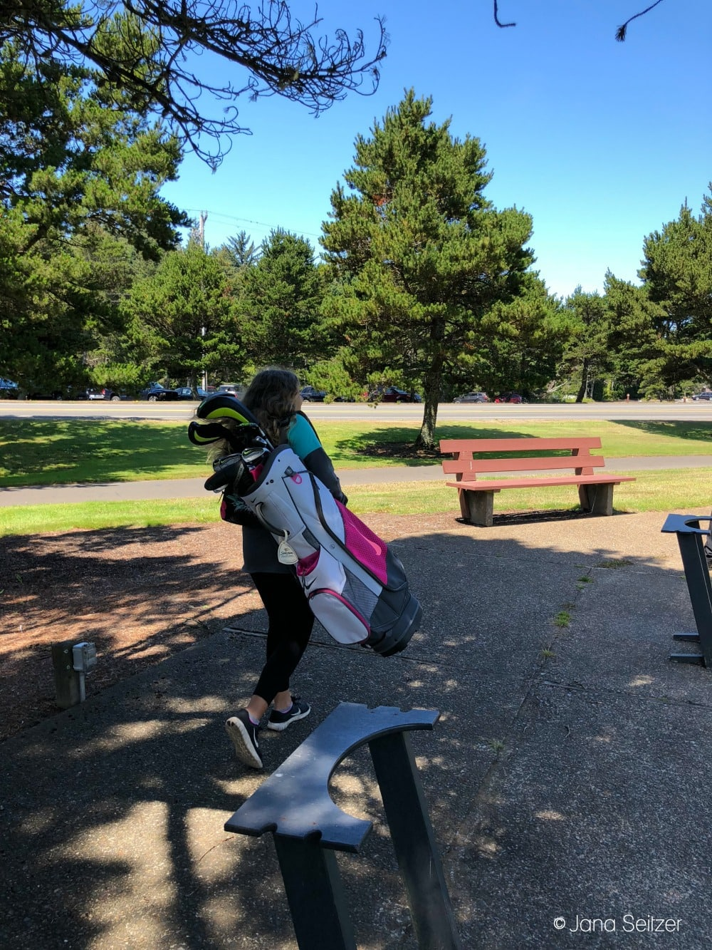 lessons with a golf pro at Salishan Resort