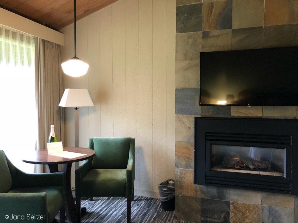 Summer at Salishan Resort on the Oregon Coast -Salishan Resort room with fireplace