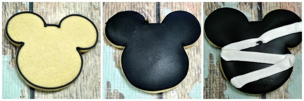 Mickey Mummy Sugar Cookies in process