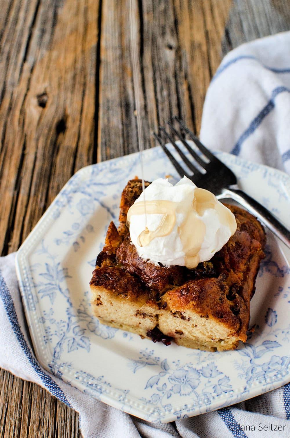 Eggnog Cranberry French Toast Bake