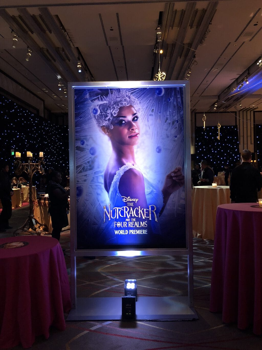 Walking the Red Carpet for Disney's Nutcracker and the Four Realms - character poster