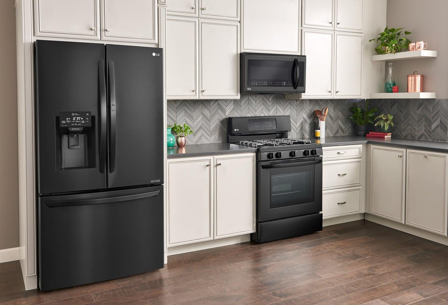 LG Matte Black Kitchen